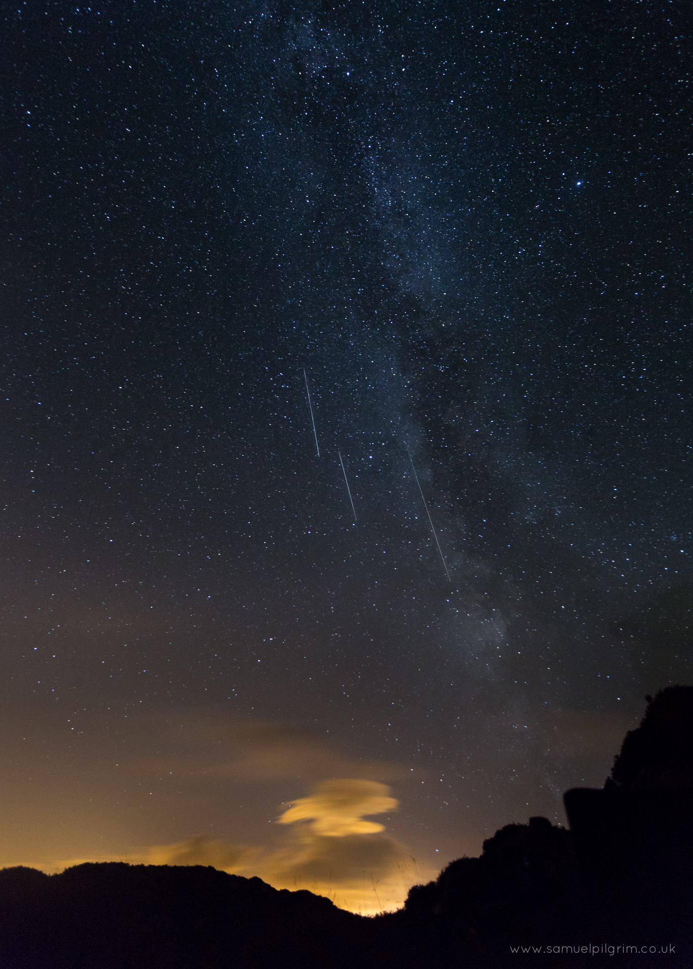 Perseids and Milky Way over Barrow