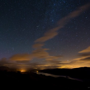 Photographing the Perseids meteor display