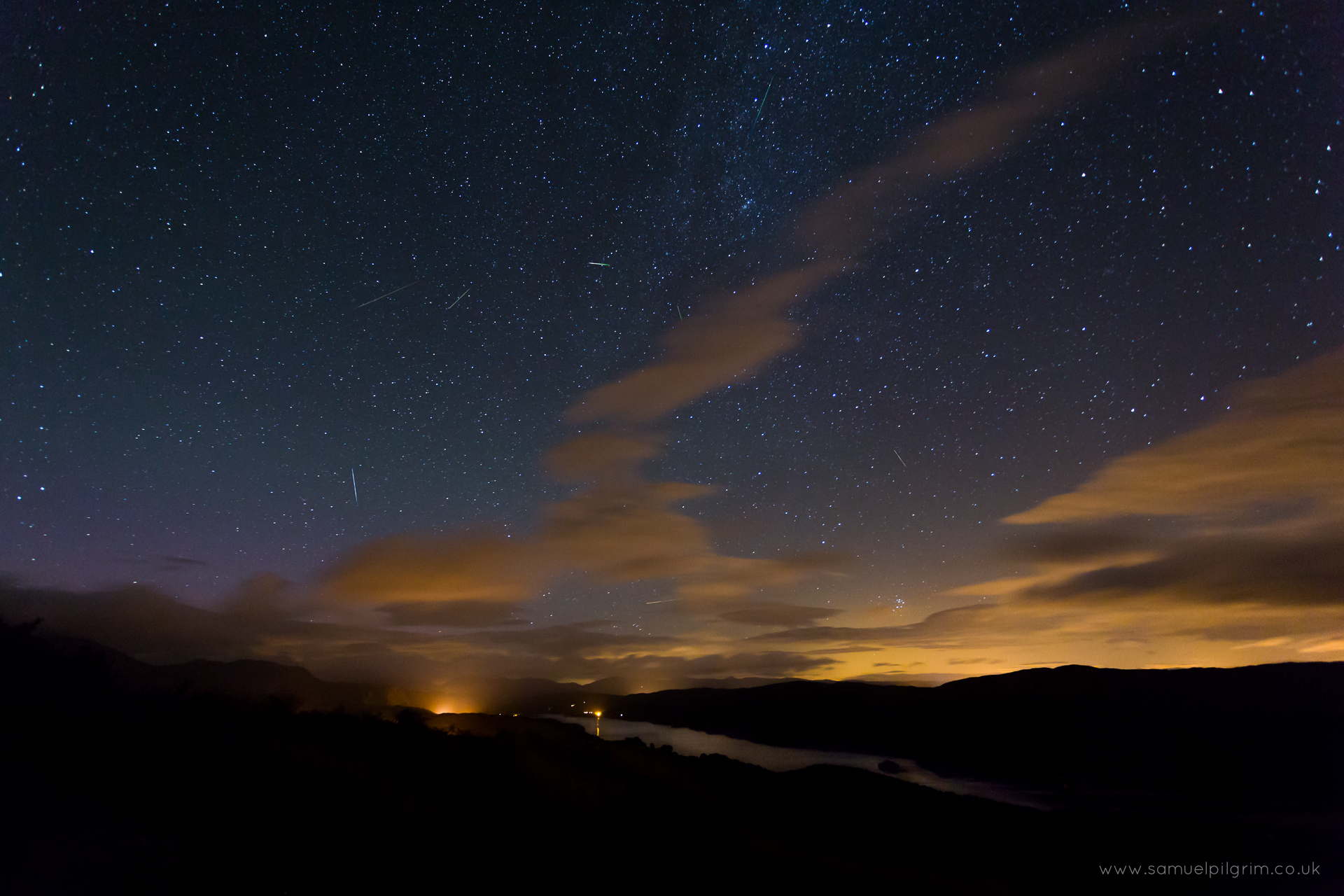 Perseids over Coniston Water