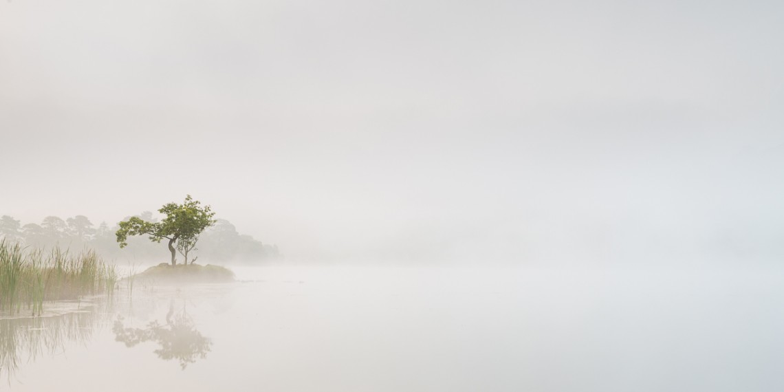 Early Autumn Mists on Rydal Water